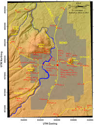Map Of Oregon Fires by Tumalo Creek Its Glaciated Valley And Spectacular Waterfalls