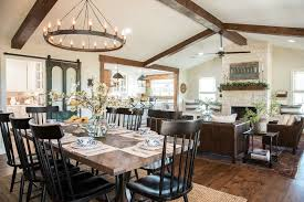 fixer upper dining table remodelaholic get this look fixer upper big country house living