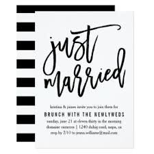 after wedding brunch invitation just married post wedding brunch invitation grey zazzle