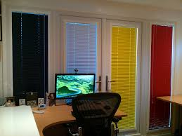 andrew u0027s stylishly bright garden office web blinds