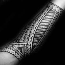 34 polynesian forearm designs by black grey ink