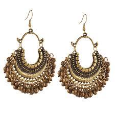 chandbali earrings online buy earrings afghan designer teal chandbali oxidized