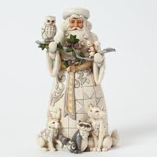 jim shore woodland santa with animals department 56 corner