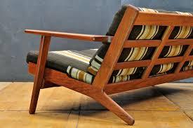 Hans Wegner Sofa by Rare Teak Getama Sofa By Hans J Wegner