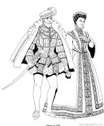 printable coloring pages renaissance renaissance costumes and clothing coloring pages 37 free printable