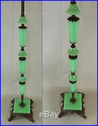 floor l parts glass antique art deco jadeite houze slag glass cast iron floor l base