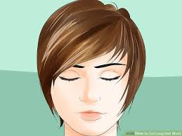 cutting hair upside down how to cut long hair short 14 steps with pictures wikihow