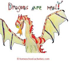 dragons for children child pencil and in color child