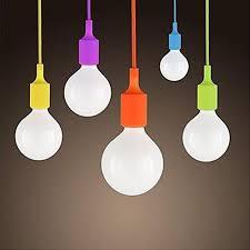 Coloured Cord Pendant Lights Modern E27 Colorful Silicone L Holder 220v Pendant Lights 12