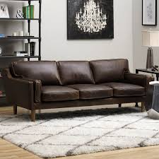 Oversized Leather Sofas by Beatnik Leather Sofa Columbus Chocolate Free Shipping Today