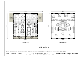 duplex floor plans for narrow lots 134 2v3 amaroo duplex floor plan by ahc brisbane home builder