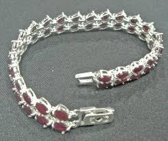 made bracelet images Double line designer ruby bracelet made with silver gleam jewels JPG