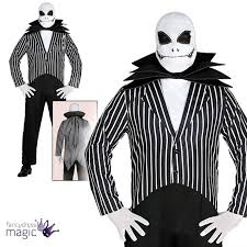 mens jack skellington skeleton halloween nightmare christmas fancy