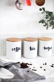 kitchen jars and canisters personalised kitchen storage