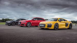 s8 audi audi r8 v10 plus vs audi rs6 vs audi s8 top gear drag races