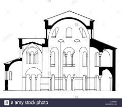 Church Floor Plans by Architecture Ground Plan Cross Section Of A Romanesque Church