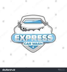 express car wash logo template design stock vector 487817095