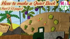 diy how to make a quiet book fruit u0026 vegetable garden part 2