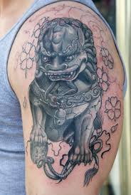 japanese guard dog statues collection of 25 foo dog or lion tattoo design