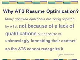 Ats Resume Format Optimize Your Resume For Applicant Tracking Systems