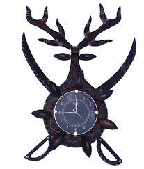 ajanta purple wooden wall clock buy ajanta purple wooden wall