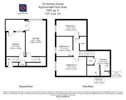 Floor Plan Measurements Buy A 3 Bedroom Duplex Flat In Harmon House Bowditch Se8 London