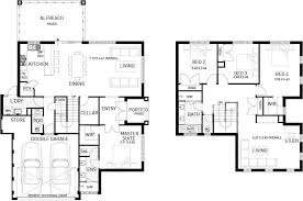double storey floor plans the trinity four bed two storey home design plunkett homes