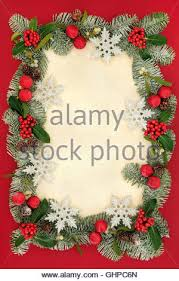 blank christmas card or invitation with snowflake on red