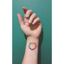 in love with my new color wheel tattoo miami artnerd