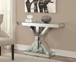 Mirrored Console Table Thick Mirrored Console Table By Coaster Wolf And Gardiner Wolf