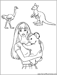 barbie coloring pages free printable colouring pages for kids to