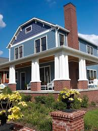 sidings for homes great blue siding house combined with brick