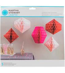 martha stewart pink honeycomb paper decorations joann