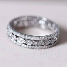 pave ring wedding band from abbyandwills on etsy