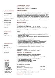 awesome idea technical project manager resume 2 technical resume