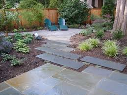Nice Backyard Ideas by Alluring Backyard Landscape With Stone Floor And Walkway Also