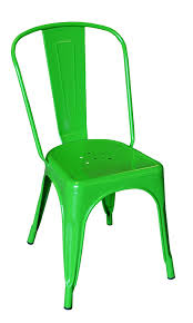 Galvanized Bistro Chair Tolix Marais Chair Green The Khazana Home Furniture Store