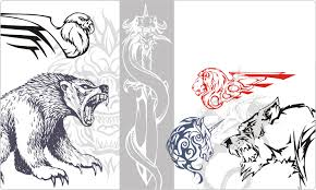 animal u0026 monster tattoo designs vector images on cd or by download