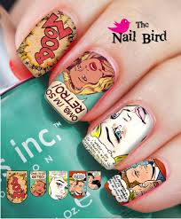 nail art nail decals nail transfers natural acrylic nails retro