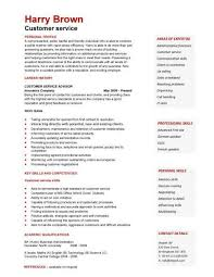 Summary Resume Sample by Customer Service Resume Example Professional Customer Service