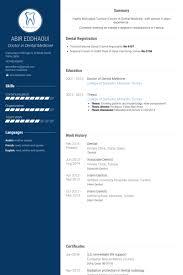 Sample Resume Dentist by Download Dentist Resume Haadyaooverbayresort Com