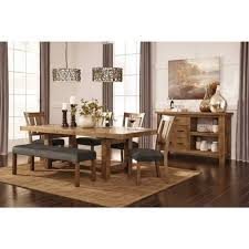 ashley dining table with bench tamilo large upholstered dining room bench wood dark brown