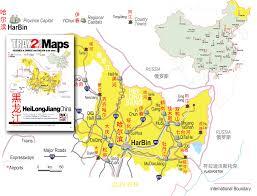 China Province Map Heilongjiang Map Map Of Heilongjiang Province China