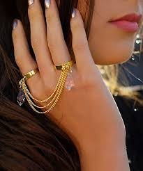 finger chain rings images Trendy chain ring fashion styling for ladies jpg