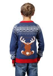 light up hanukkah sweater boy s reindeer led light up ugly christmas sweater