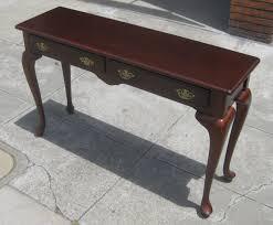 uhuru furniture u0026 collectibles sold queen anne sofa table 120