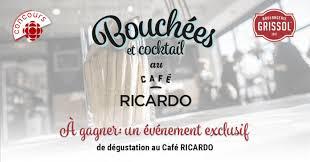 cuisine de ricardo radio canada concours ricardo gagnez une dégustation au café ricardo