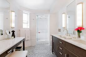 Walnut Bathroom Vanity Walnut Dual Washstand Facing A Walnut Makeup Vanity Transitional