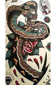 traditional snake tattoo stencil pictures to pin on pinterest