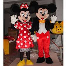 mickey minnie mouse mascot costume halloween party clothing